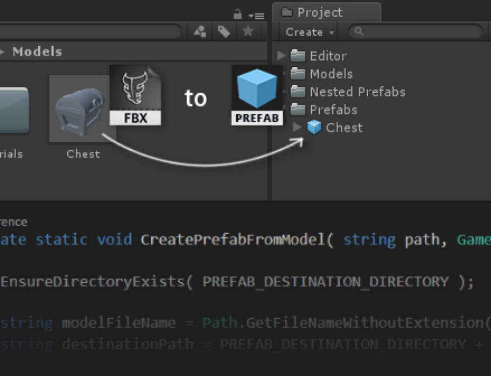 Automatically create prefabs from models on import
